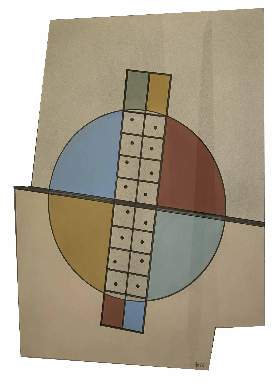 """CARMELO ARDEN QUIN (1913 - 2010) """"FORMA MADI"""" Técnica mixta; 65 x 50 cm. Firmado y fechado ´75 abajo a la derecha. POR CONSULTAS DE PRECIOS, CONTACTE LA GALERIA. FOR PRICE´S ENQUIRIES, PLEASE CONTACT THE GALLERY."""