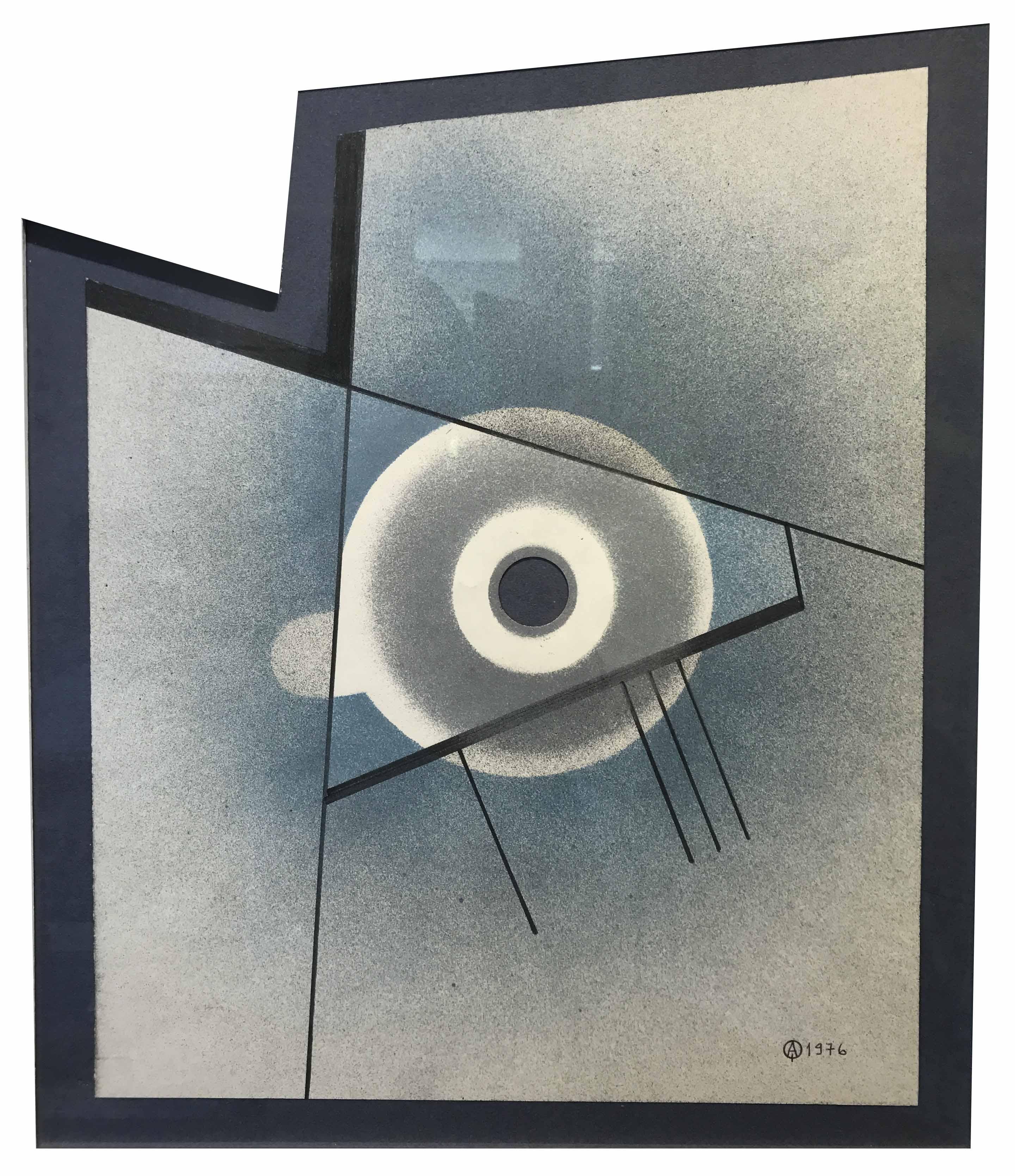 """CARMELO ARDEN QUIN (1913 - 2010) """"FORMA MADI""""  Técnica mixta; 42 x 35 cm. Firmado y fechado 1976 abajo a la derecha. POR CONSULTAS DE PRECIOS, CONTACTE LA GALERIA. FOR PRICE´S ENQUIRIES, PLEASE CONTACT THE GALLERY."""